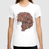 hair T-shirts featuring Her Hair - Les Fleur Edition by Bianca Green