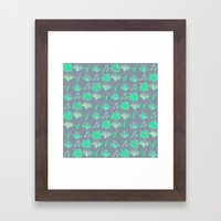 Sleep Your Leafy Greens Framed Art Print