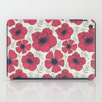 Raspberry Flowers iPad Case