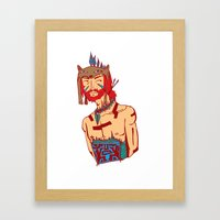 Tribal Man Framed Art Print