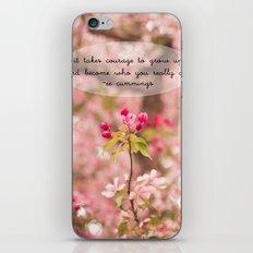 courage in growth - ee cummings iPhone & iPod Skin