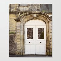 White Door Canvas Print