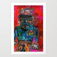 Brick Layer Art Print