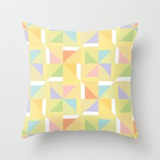 PINWHEELS - YELLOW Throw Pillow