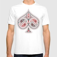 83 Drops - Spades (Red & Black) Mens Fitted Tee White SMALL