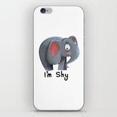 Elly the Shy elephant iPhone & iPod Skin