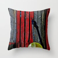 The Conductor's Banjo Throw Pillow