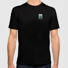 Portrait of a Perky Pelican Mens Fitted Tee Black SMALL