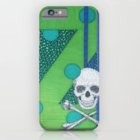 iPhone & iPod Case featuring Green Skull Z by Aimee Alexander