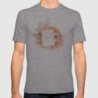 Coffee Stain Mens Fitted Tee Tri-Grey SMALL