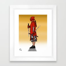 Street Samurai Series - Red Sun Framed Art Print
