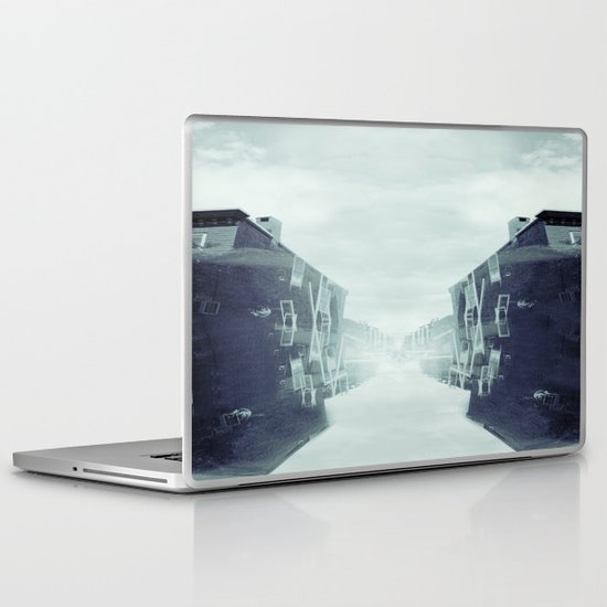 city in the sky Laptop & iPad Skin