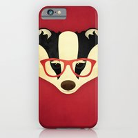 Hipster Badger: Red iPhone 6 Slim Case