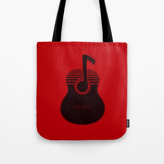 Classical Notes RED Tote Bag