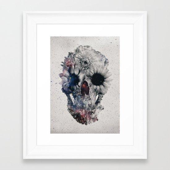 Floral Skull 2 Framed Art Print