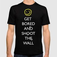 Smiley Target Mens Fitted Tee Black SMALL