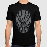 SpiderWeb Mens Fitted Tee Black SMALL