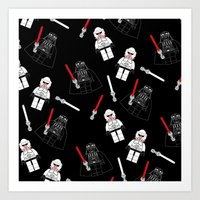 Darth-Black Art Print