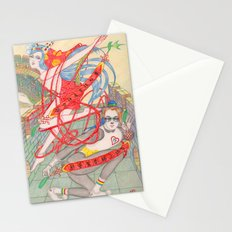 The Legendary Panda Brother & Dragon Sister  / Original A4 Illustration / Colored Pencil & Ink Stationery Cards