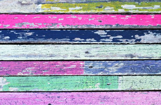 color grunge wood Canvas Print