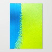 Blue Green Paint Canvas Print