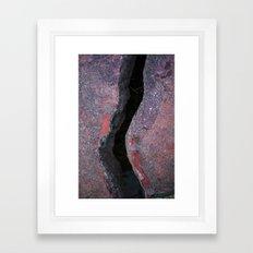 Cracked Bridge Framed Art Print