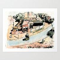 La rue - The street Art Print
