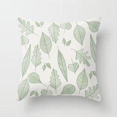 Falling Leaves Pattern I Light Throw Pillow