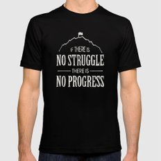 No Struggle, No Progress SMALL Mens Fitted Tee Black