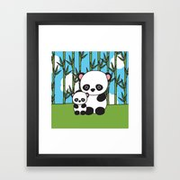 Panda Sweetness Framed Art Print
