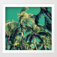 Paradise Palm Trees  Art Print