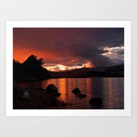 Loch Rannoch Blazing Sun… Art Print