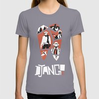 Django Unchained Womens Fitted Tee Slate SMALL