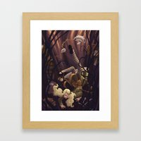 Alice Down the Rabbit Hole Framed Art Print