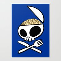 Zombie nation meal time Canvas Print