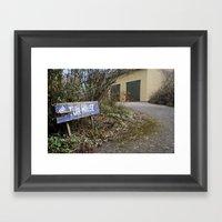 Quaint Drive Framed Art Print