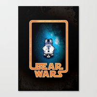 Bear Wars - GRRR2D2 Canvas Print