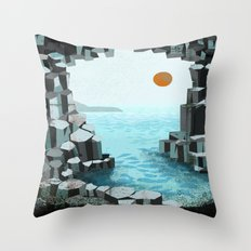 Fingal's Cave Overture - Hebrides - Mendelssohn Throw Pillow