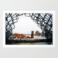 Brooklyn Bridge From A Distance Art Print
