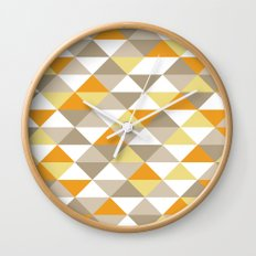 Triangle Pattern #1 Wall Clock