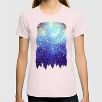Singing in the Rain Womens Fitted Tee Light Pink SMALL