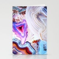 photography Stationery Cards featuring Agate, a vivid Metamorphic rock on Fire by Elena Kulikova