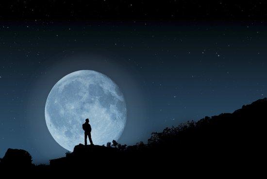 Man in the Moon Art Print
