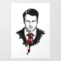 Hannibal Lecter - Hannibal Tryptch Art Print