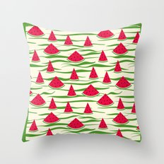 Juicy slices of watermelon. Throw Pillow