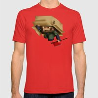 Solid Stobo Avatar Mens Fitted Tee Red SMALL