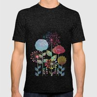 Flower Tales Mens Fitted Tee Tri-Black SMALL