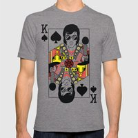 Elvis Presley Playing Card illustration  Mens Fitted Tee Tri-Grey SMALL