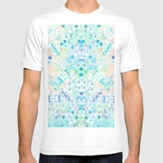 Pastel Flowers  White Mens Fitted Tee SMALL