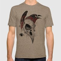 DARK WRITER Mens Fitted Tee Tri-Coffee SMALL